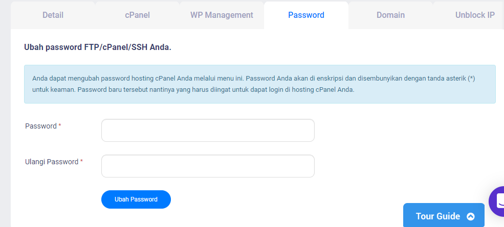 RE: Lupa password cpanel